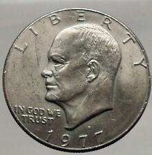 1977  President Eisenhower Apollo 11 Moon Landing Dollar USA Coin Denver  i46211
