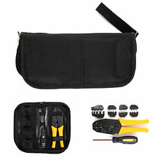 Crimping tool cable wire stripper pliers electrical ratchet crimper 4 Spare Dies