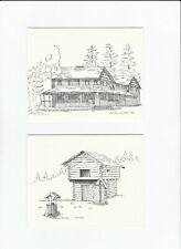Note Cards - Coupeville, Washington - 4 Historical Buildings - 8 Notecards Total
