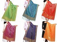 Women's Silk Banarasi Dupatta Party Wear Ethnic Dupatta - Free Shipping