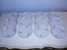 "12 ARLEN FINE CHINA Cathay Flora & Silver Trim 5 3/4"" Saucers 1476 Japan"