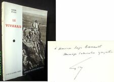 «Le VIVARAIS» Louis PIZE Ardeche Rhone Alpes envoi signé inscribed à BARRAULT !