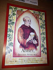 Collectible Abbey Belgian Style Ale Poster, New Belgium Brewing Co. Printed 1996