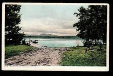1906 boat docked at wharf Melvin Lake Winnipesaukee New Hampshire postcard