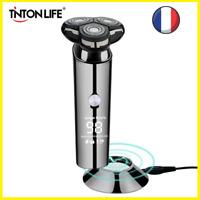 Rasoir Electrique Homme Sans Fil Tondeuse Barbe Tête Rotative Rechargeable LCD