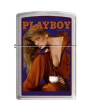 Zippo 4756 Playboy Cover-February 1986 Brushed Chrome Lighter