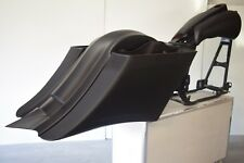 """7"""" Stretched Saddlebags & Rear Fender Duck Tail For 97-08 Harley Touring Baggers"""
