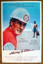 """Paul Newman in """"HARRY & SON""""/ poster - Only a HERO has courage to change"""