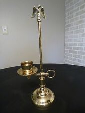 CANDLE HOLDER SCONCE w EAGLE FINIAL/BRASS PLATED/ MILITARY AMERICANA