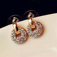 New Fashion Women Ladies Elegant Crystal Rhinestone Ear Stud Earrings Jewelry
