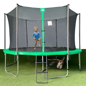 Jump Tastic 14ft Trampoline Como Bounce Jumping Platform with Shoes Bag & Ladder