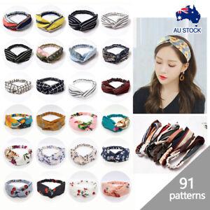 Ladies Headbands Twist Knot Pattern Head Wrap Sport Turban Hair Accessories