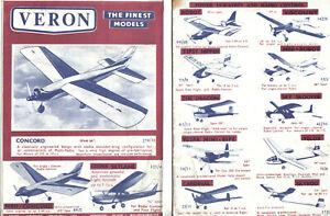 Veron The Finest Models Aircraft & Boat Models original Sales Brochure