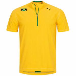 Jamaica Puma Men's 1/2-Zip Men's short Sleeve Shirt Jersey 502796-01 New Size XL