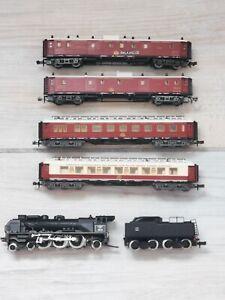 N Gauge Loco. SNCF & Coach Set. Orient Express. 1/160. Chapelle 231 E-13 (2197)
