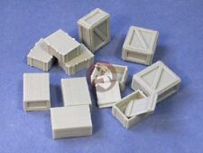 Resicast 1/35 Assorted Wooden Boxes (12 pieces - 3 with Open Lids) 352214