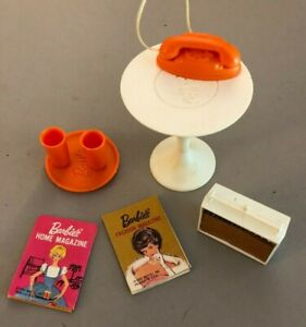 1964 Go Together Furniture Accessories For VIntage Barbie doll Mid Century style
