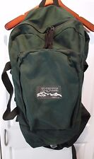 Vintage 90's Jansport Large Backpack Bag Camp Hike GREEN Made USA Metal Support