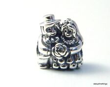 NEW!  AUTHENTIC PANDORA CHARM MR AND MRS BRIDE AND GROOM  #791116   P