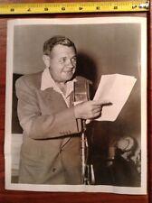 1947 Babe Ruth Press Photo New York NY Yankees HOF On ABC's Thriller Gang buster