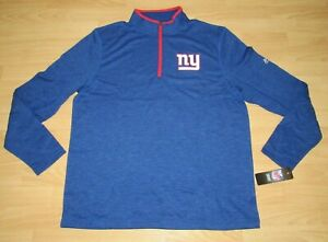 New York Giants 1/4 Zip Pullover Grid Tech Thermabase Jacket size Men's Large