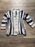 Zara Girl Pull Gilet Beige Bleu Fille 7 Ans 122 Cm
