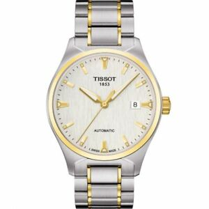 Tissot Swiss Made T-Classic Tempo Automatic 2 Tone Gold Plated Men's Watch