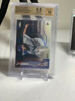 2020 Topps Chrome Tony Gonsolin Rookie Auto Blue Refractor /150 BGS 9.5 Auto 10