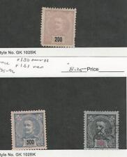 Portugal, Postage Stamp, #129-130 Mint Hinged, 131 Used, 1895-96