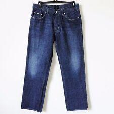 HUGO BOSS Jacksons Size 36 X 33 Inseam Denim Jeans Comfort Fit Straight Leg Dark