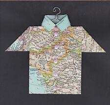 Origami Map Shirt Pakistan, Afghanistan, Islamabad, Kabul, India, New Delhi
