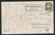93372) Korbach, Landpost Ra2 Niederwerbe Corbach Land, Karte 1932