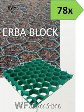 Grigliato salvaprato salvaverde in plastica carrabile ERBA BLOCK - 78 pezzi
