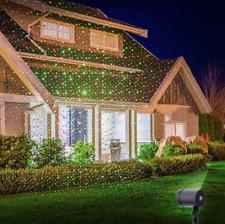 Projecteur Laser Imperméable Fête de Noël Lumière d'Extérieur étoile Paysage