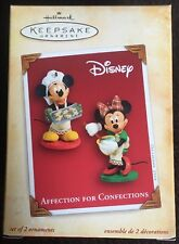 Hallmark Ornament: Disney AFFECTION FOR CONFECTIONS - Mickey Minnie - Dated 2004