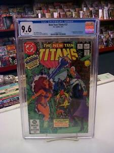 NEW TEEN TITANS #23 (DC Comics, 1982) CGC Graded 9.6 ~BLACKFIRE ~White Page