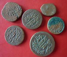 Mogulreich, Indien 1526-1858, 6 Kupfermünzen, Selten