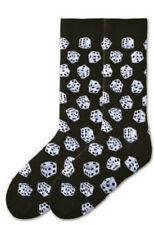 All Over Dice Dress Crew Socks Black NWT Men's Sock Size 10-13 K BELL