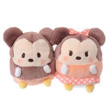 Mickey and Minnie Mouse UFUFY mini plush Disney Store Japan Tsum Tsum