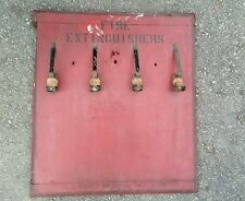 Antique c.j cross mfg new york fire extinguisher display