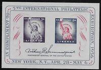 US Scott #1075, Souvenir Sheet 1956 FIPEX FVF MNH