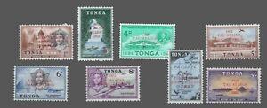 Tonga #119-126 MLH Stamps of 1953 & 1961 Wmk79 Overprinted EMACIPATION 1862-1962