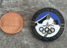 1936 OLYMPIC GARMISCH-PARTENKIRCHEN ORIGINAL VINTAGE ENAMEL PIN BADGE 35MM