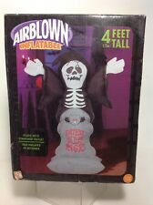 4 Ft Gemmy Halloween Scary Grim Reaper Skeleton Airblown Inflatable Yard Prop