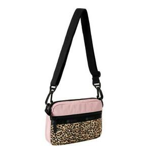 LeSportsac X-Girl Convertible Crossbody Belt Bag in Leopard Lane Pink NWT