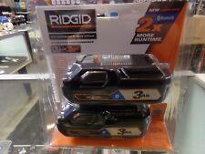 RIDGID AC803 Power Tool Battery 18V Lithium Ion 3.0Ah 2 Pack Bluetooth BRAND NEW