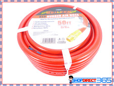 "3/8"" x 50ft 15 meter Red Rubber Air Hose Line Compressor Airline Heavy Duty 0003"