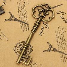 5Pcs Antique Vintage Style Key Metal Pendant Bronze Style Jewelry Decoration CN