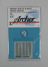 Archer 1/35 Assorted Interior Stencils for Panther Ausf.A, D and G Tanks AR35351