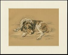 ENGLISH SPRINGER SPANIEL 1937 DOG ART PRINT by MAC LUCY DAWSON READY MOUNTED